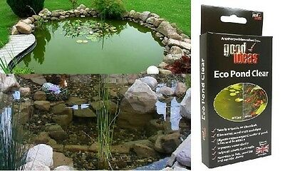 Eco Pond Clear Cleaner  Cleans Algae Blanket Weed Harmless to Fish treats 8,000L