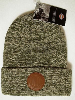 55e0fc1bd8a Dickies Men s Skull Watch Cap Winter Beanie Hat Cuff Double Layered Marled  Olive