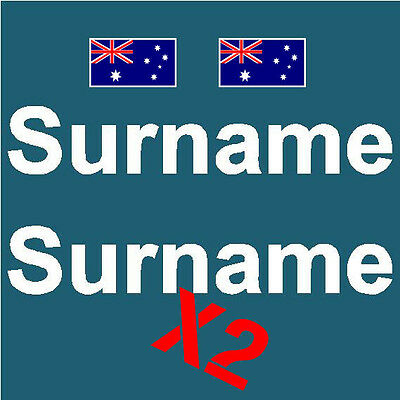 Cams Approved Surname X2 W/flags Decal Sticker Set Rally Drift Motorsport Jdm