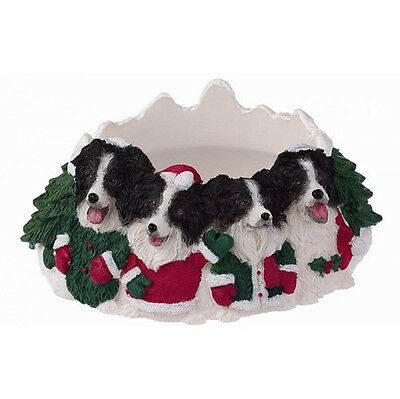 Border Collie Holiday Candle Topper Ring