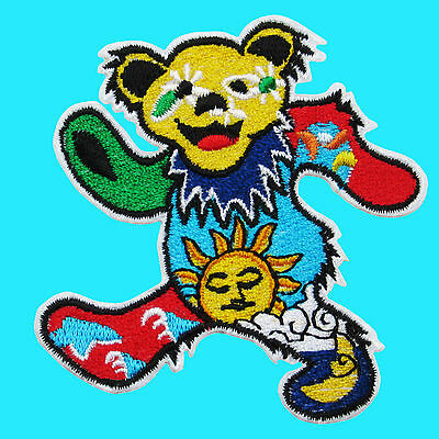 GRATEFUL DEAD Heavy Metal Rock Music Embroidered Iron On Patch Dancing Bear Band