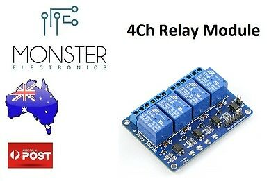5v 4 Channel Relay Module (Arduino) AU Stock Fast Delivery