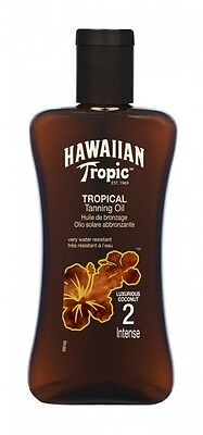 Hawaiian Tropic Tanning Oil Intense SPF 2 200 ml. Delivery is Free
