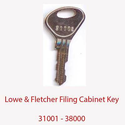 Lowe & Fletcher Replacement Filing Cabinet Key 31001 - 38000