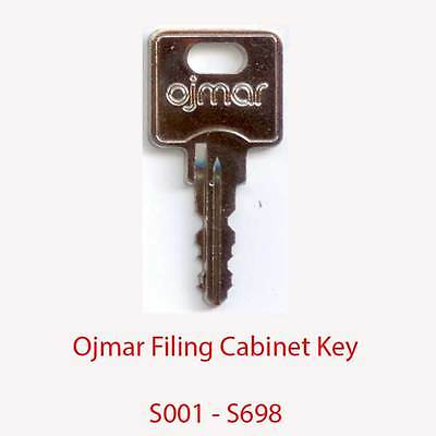 Ojmar Replacement Filing Cabinet Key S001 - S698
