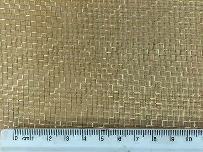 """Brass Woven Wire Mesh 0.5m x 3m - 8 holes per """" - Modelling Craft Metalwork 763"""