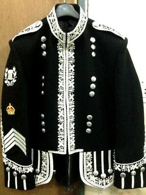Black Melton Wool Doublet Silver Bullion Hand Embroidered.Unique from the others