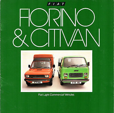 Fiat 127 Fiorino & 900E Citivan 1981-83 UK Market Sales Brochure