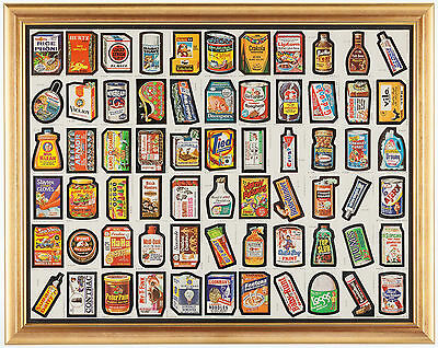 1979 Topps Wacky Packages Series #1 uncut sheet with 66 stickers