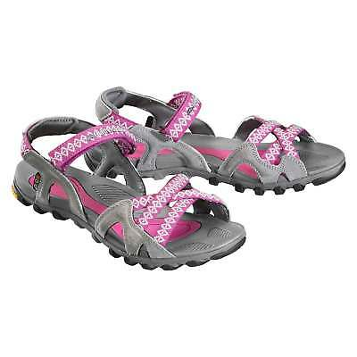 Kathmandu Willimette Womens Vibram Rubber Summer Hiking Sandals in Pink
