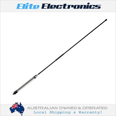 ORICOM ANU100 6.5dBi UHF CB RADIO ELEVATED FEED FIBERGLASS WHIP ANTENNA 0.78M