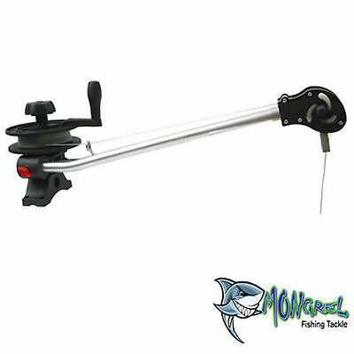 New TOURNAMENT SERIES MANUAL DOWN RIGGER  MOUNTING,CLIP AND CABLE