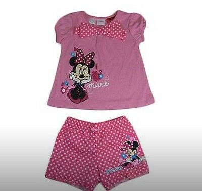 NEW Girls Minnie Mouse Summer Pyjamas Pjs Size 5 Licensed Product 1b77fff07