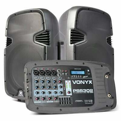 PSS302 Vexus 10 Inch Portable Sound Set with Mixer and Stands DJ City Australia