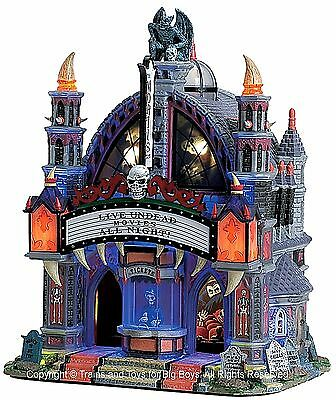 Lemax 75496 MORTIS THEATER Spooky Town Building Animated Sights & Sounds Decor R