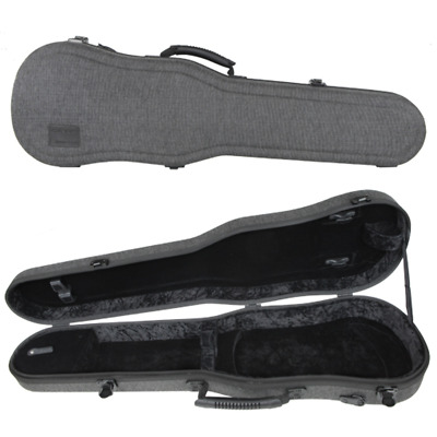 GEWA Bio-S Shaped Violin Case for 4/4 Size Black/Grey