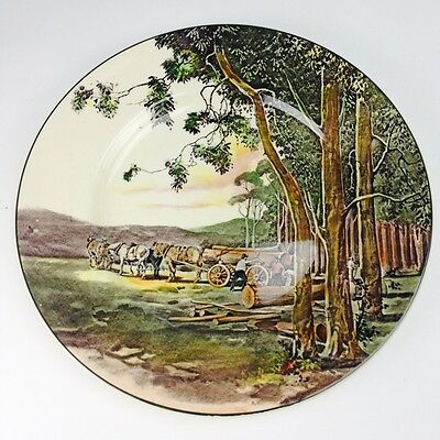 "ROYAL DOULTON SERIES WARE PLATE ""TIMBER WAGON "" c1930's D6307 Excellent"