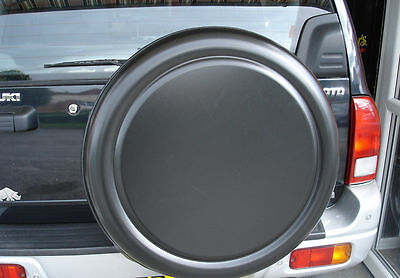 TOYOTA RAV4 LAND CRUISER HILUX SEMI-RIGID SPARE WHEEL COVER in BLACK
