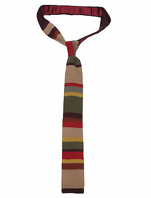 Doctor Who Knitted Tie - Official BBC Licensed Fourth Doctor (Tom Baker) Tie