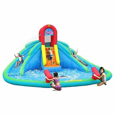 NEW Happy Hop Ocean Park Inflatable Double Water Slide Age: 3 - 10