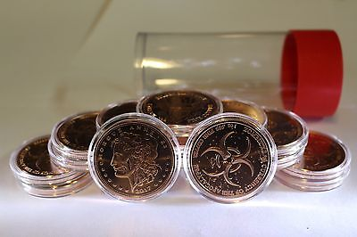 """ZOMBUCKS Complete Set Air-Tite Tube """"Before AND After"""" Zombified Copper"""