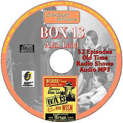 Box 13 starring Alan Ladd CD 52 OTR  Old Time Radio Episodes Audio MP3
