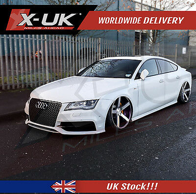 Rs7 Style Front Grill Gloss Black & Silver Surround For Audi A7 S7 2011-2015