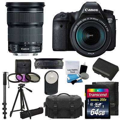 Canon EOS 6D DSLR Camera with 24-105mm f/3.5-5.6 STM Lens + 64GB Top Value Kit!