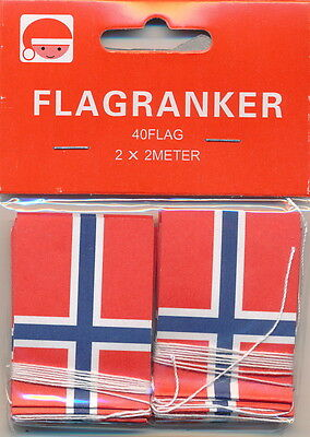 Norwegian Flagranker ( Norwegian Flag Garlands)