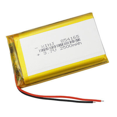 3.7V 2500 mAh Rechargeable Polymer Li battery Lipo for ipod GPS Tablet PC 854165
