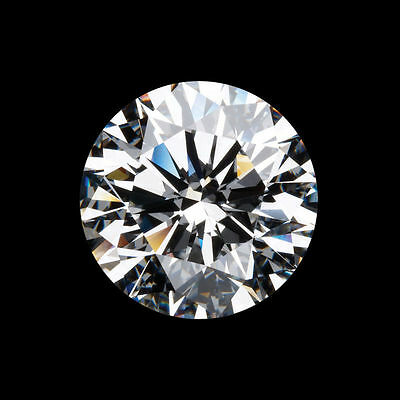 Brilliant Cut Round White Loose Moissanite Diamond Simulant Stone
