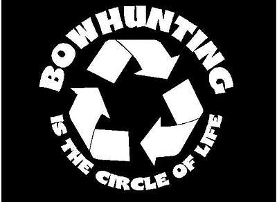 2 Bowhunting Decal Sticker (circle of life)