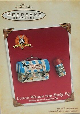 Hallmark 2004 Looney Tunes Lunch Wagon for Porky Pig Lunchbox Set FREE SHIPPING!