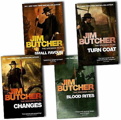 Jim Butcher Dresden Files Collection 4 Books Pack Set- Small Favour, Changes,