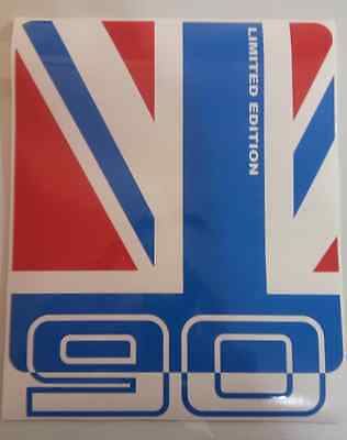 LAND ROVER DEFENDER 90 Aftermarket DECAL Wing Sticker Union Jack Red/Blue GB
