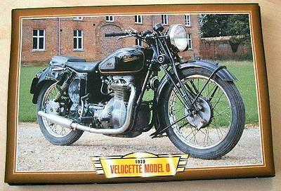 Velocette Model O 600 Vintage Classic Motorcycle Bike 1930's Picture Print 1939