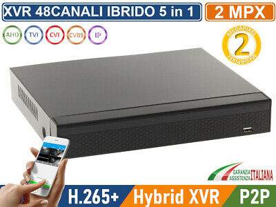 XVR DVR 6in1 AHD CVI TVI CVBS IP 8 CANALI UTC FULL HD 1080P P2P CLOUD HDMI WIFI