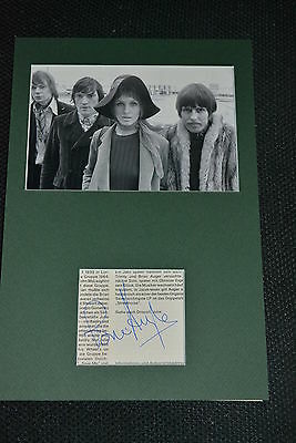 BRIAN AUGER signed Autogramm 20x30 cm In Person Passepartout