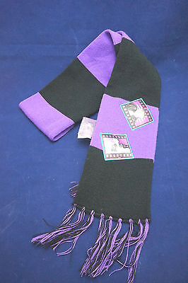 JUSTIN BIEBER Scarf * Black & Purple *