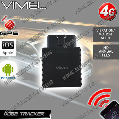 GPS Tracker 4G Vimel OBD2 Device Free Web APP Tracking Anti Theft Car Yacht  3G