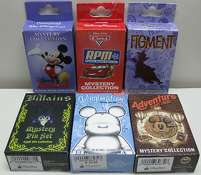 Disney Collection 2 Pin Boxes LOT of 6 Boxes - New Authentic