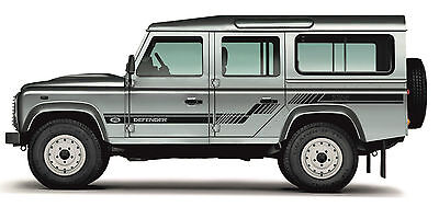 LAND ROVER DEFENDER 110 Aftermarket DECAL Stripes Sticker SET landrover v.1