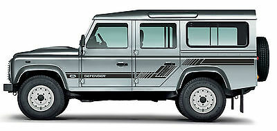 LAND ROVER DEFENDER 110 Aftermarket DECAL Stripes Sticker SET landrover v.2