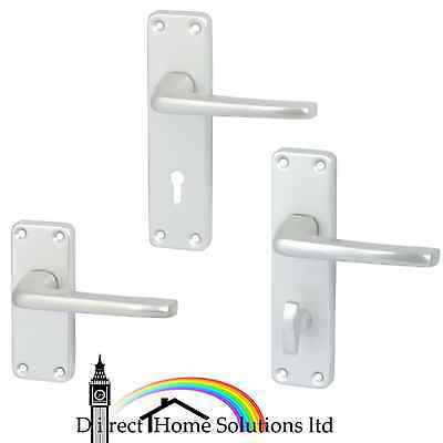 HAFELE CRANSLEY satin anodised lever handles with backplates