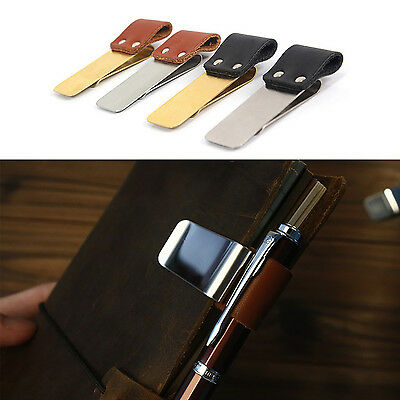 nS Traveler Notebook Notepad Diary Book Fitting Metal Leather Pen Holder Clip