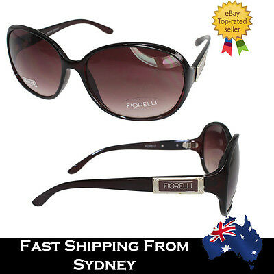 Fiorelli Designer Big Round Women Sunglasses Celebrity Brown Gradient Vintage