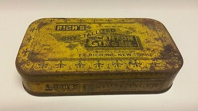 Vintage Rich's Crystallized Canton Ginger Tin