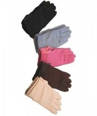 Horse Riding Gloves Cotton Pimple Palm in Navy - Medium. Shipping Included