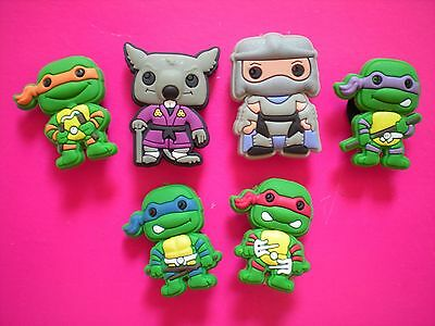 Jibbitz Croc Clog Charm Plug Button Fit Accessories Kid Bracelet 6 Ninja Turtle