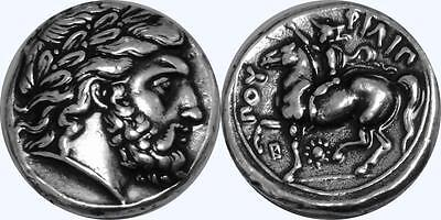Percy Jackson Fans,Greek Gods #4 ZEUS King of the Gods Minted by Phillip II